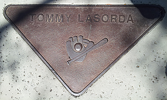 Sportswalk Plaque Tommy Lasorda