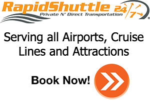Rapid Shuttle Serving all airports, cruise lines and attractions