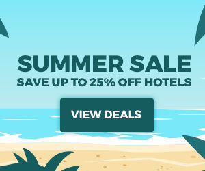 Summer Sale Save up to 25% off hotels.