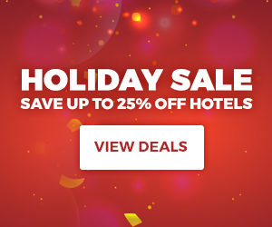 Holiday Sale Save up to 25% off hotels