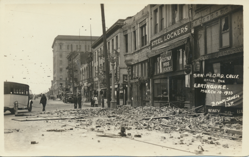San Pedro, Calif. after the earthquake March 10, 1933