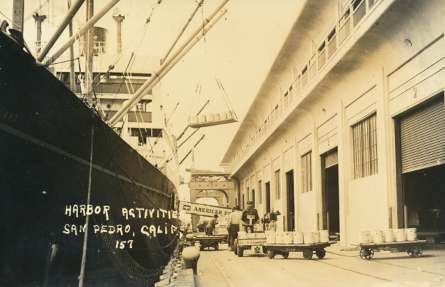 Loading an American President Lines Ship at San Pedro