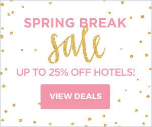 Spring Break Sale. Save up to 25% off hotels.