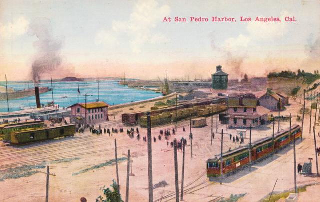 At San Pedro Harbor, Los Angeles, California