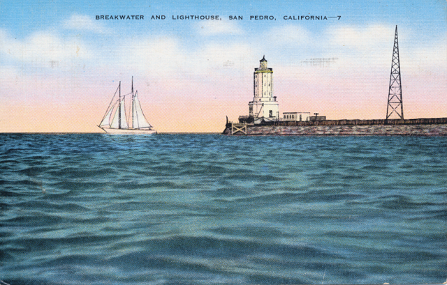 Breakwater and Lighthouse San Pedro CA