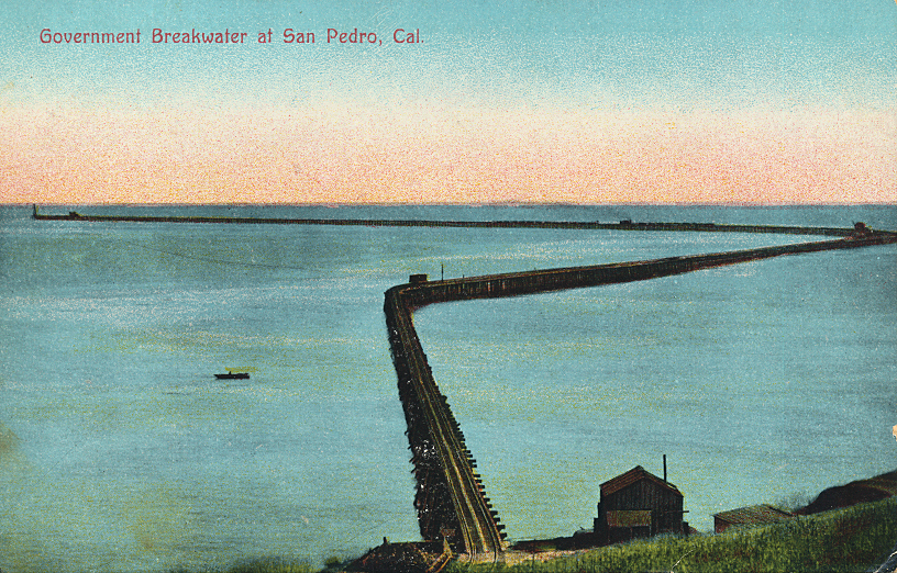 Government Breakwater at San Pedro, Cal.