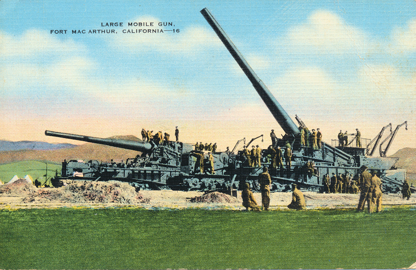 Large Mobile Gun, Fort Mac Arthur, California