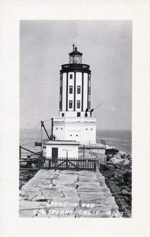 Angels Gate Light House San Pedro Cal