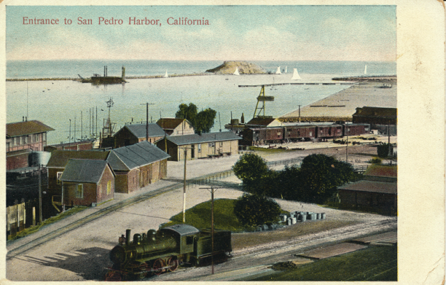 Entrance to San Pedro Harbor, California