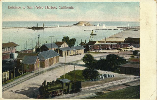 Entrance to San Pedro Harbor, California