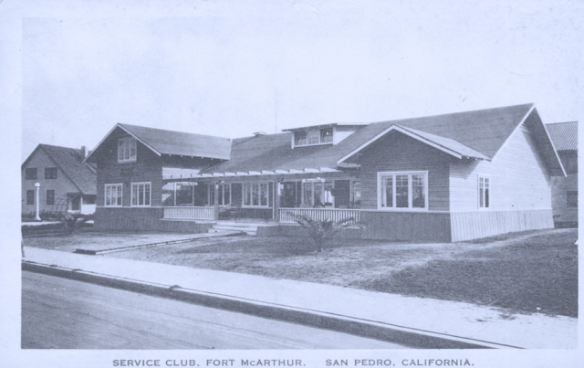 Service Club, Fort Mac Arthur, San Pedro, California