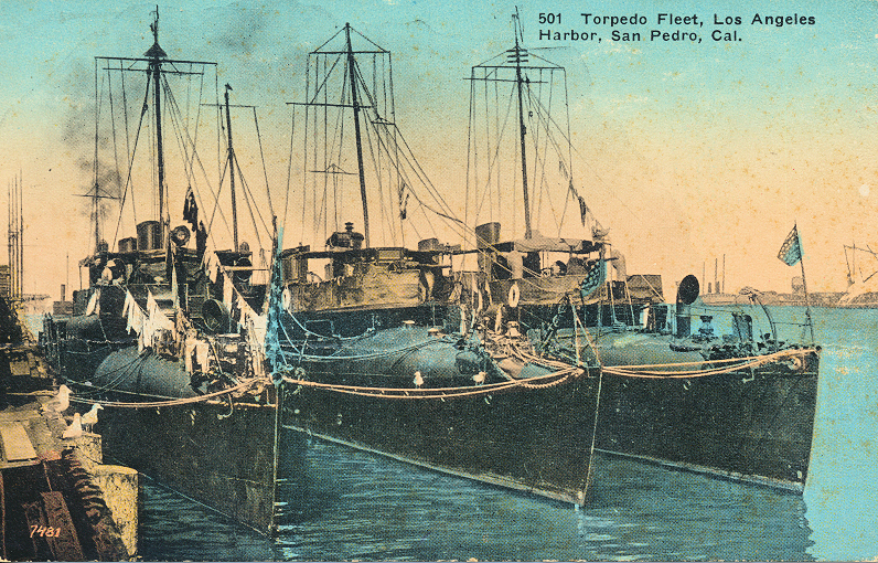 Torpedo Fleet, Los Angeles Harbor, San Pedro, Cal.
