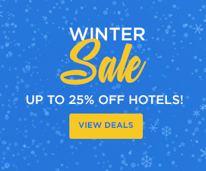 Winter Sale. Save up to 25% off Hotels. View deals.